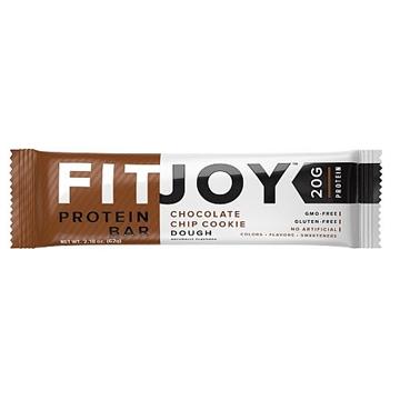 Снимка на FitJoy Protein bar Chocolate Chip Cookie Dough / Протеинов бар Фитджой- Лесен и вкусен начин да си набавим необходимото количество протеин