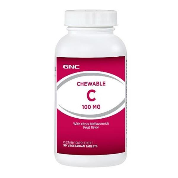 Picture of GNC Chewable C 100 mg / Витамин С 100 мг дъвчащи таблетки -  Укрепва защитните сили на организма