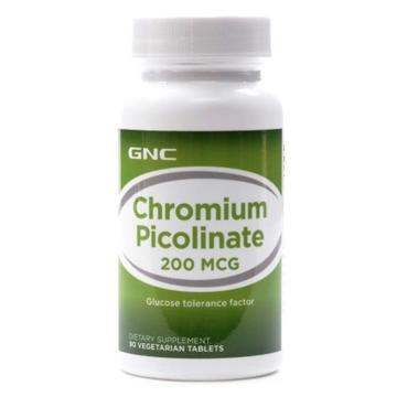 Снимка на GNC Chromium Picolinate 200μg /  Хром Пиколинат 200мкг - Стимулира метаболизма и намалява апетита към сладко
