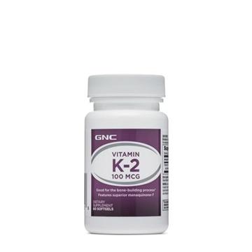 Снимка на GNC Vitamin K2 100 µg/ Витамин К2 100 мкг - За здрави кости и зъби