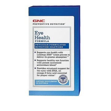 Снимка на GNC Preventive Nutrition® Eye Health Formula/ Формула за очи- Комплексна формула за добро зрение