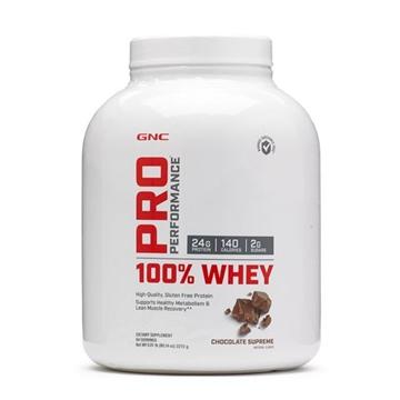 Снимка на GNC Pro Performance 100% Whey – Chocolate suprеme/ Про Пърформанс 100% Уей - Вкусен и лесно разтворим суроватъчен протеин