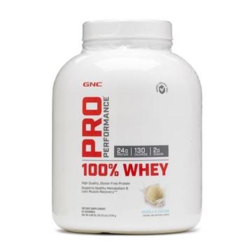Снимка на GNC Pro Performance 100% Whey – Vanilla Cream/Про Пърформанс 100% Уей - Вкусен и лесно разтворим суроватъчен протеин