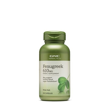 Снимка на GNC Herbal Plus Fenugreek 610 mg/ Сминдух 610 мг -
