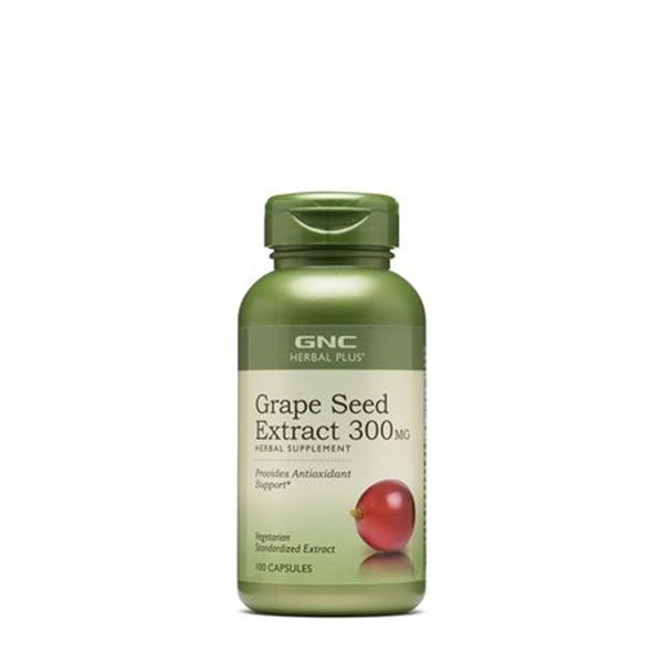 Picture of GNC Herbal Plus Grape seed extract 300 mg/ Екстракт от гроздови семки 300 мг - В помощ на кръвоносните съдове и сърцето