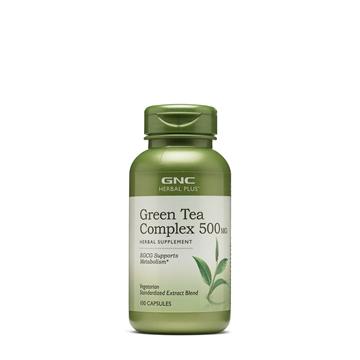 Снимка на GNC Herbal Plus ® Green Tea Complex 500 mg/ Зелен чай комплекс - Полезно оздравително средство, познато от хилядолетия