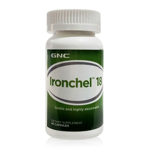 Picture of GNC Ironchel 18 mg / Желязо хелатно 18 мг - Основен минерал в производството на хемоглобин в организма