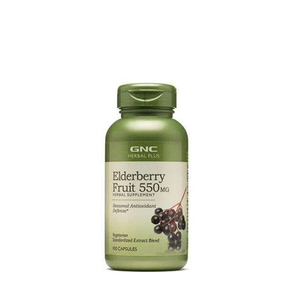 Picture of GNC Herbal Plus Elderberry Fruit 550 mg/ Черен бъз 550 мг - Натурално средство за укрепване на имунитета