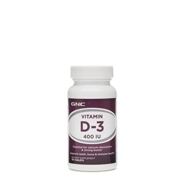 Снимка на GNC Vitamin D-3 400IU / Витамин Д-3 400 IU - Важен за  абсорбирането на калция
