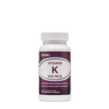 Снимка на GNC Vitamin K 100 µg / Витамин К мкг - Важен занормалното съсирване на кръвта
