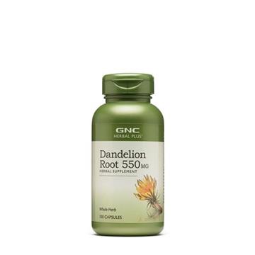 Снимка на GNC Herbal Plus Whole Herb Dandelion Root/ Глухарче корен 550мг -Благоприятства нормалните функции на пикочната система