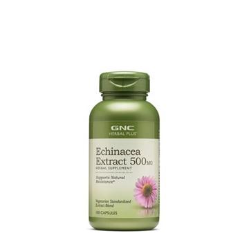 Снимка на GNC Herbal Plus Echinacea Extract 500 mg / Ехинацея екстракт 500 мг - За силен имунитет