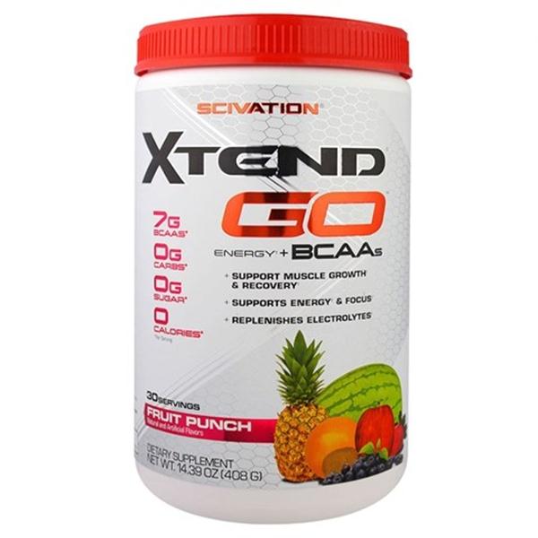 Picture of Scivation Xtend  GO Energy + BCAA`s- Fruit Punch / Сайвейшън Екстенд Гоу Енерджи + ВCAA - Аминокиселинен комплекс, обогатен с кофеин