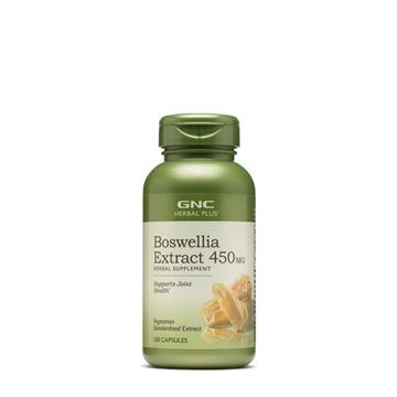 Снимка на GNC Herbal Plus Boswellia Extract 450 mg / Босвелия екстракт смола 450 мг - Натурално средство при болки и възпаление на ставите