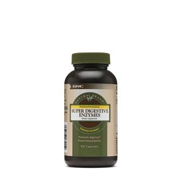 Снимка на GNC Natural Brand Super Digenstive Enzymes / Супер храносмилателни ензими - Натурални ензими от растителен и животински произход