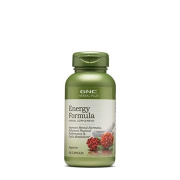 Снимка на GNC Herbal Plus Energy Formula / Формула за енергия и тонус - Подобрява умствената и физическата активност