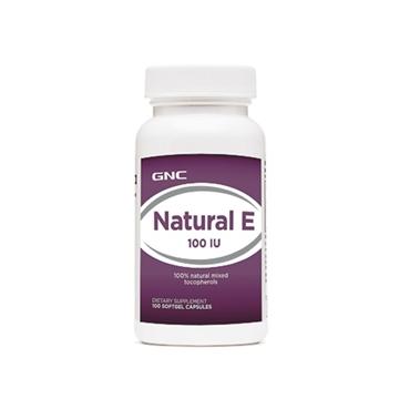 Снимка на GNC Natural E 100 IU/Витамин Е 100 IU - Антиоксидантна защита на клетките