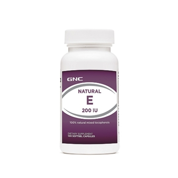 Снимка на GNC Natural E 200 IU/ Витамин Е 200 IU - Силен антиоксидант