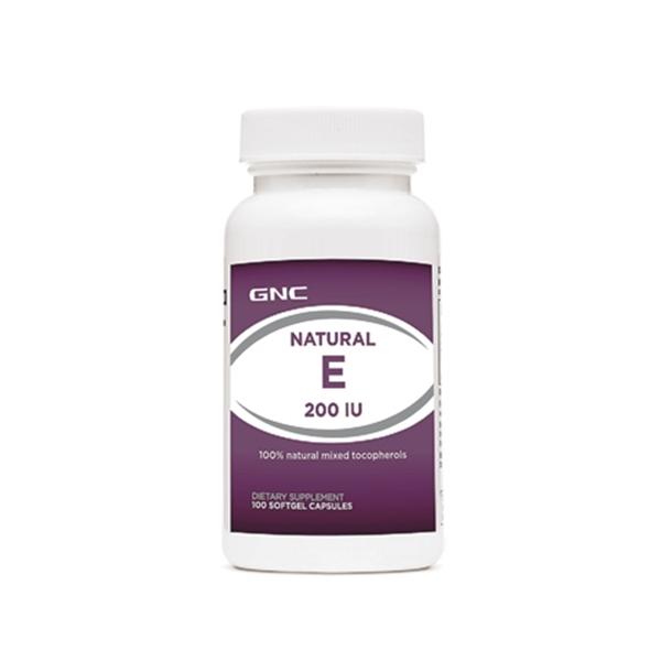 Picture of GNC Natural E 200 IU/ Витамин Е 200 IU - Силен антиоксидант