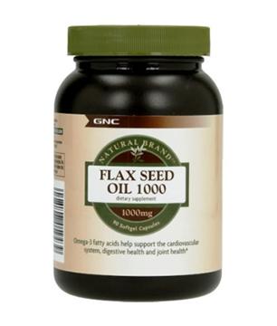 Снимка на GNC Natural Brand  Flax Seed Oil 1000 mg/ Ленено масло 1000 мг - Източник на Омега  мастни киселини
