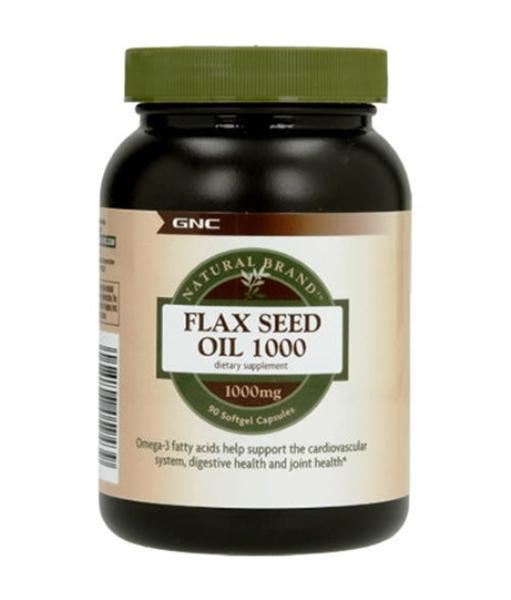 Picture of GNC Natural Brand  Flax Seed Oil 1000 mg/ Ленено масло 1000 мг - Източник на Омега  мастни киселини