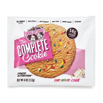 Снимка на Lenny & Larry's® The Complete Cookie®  - Birthday cake / Протеинов бар комплийт куки - Вкусна и питателна протеинова бисквитка