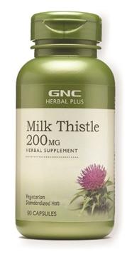 Снимка на GNC Herbal Plus Milk Thistle 200 mg/ Бял трън 200 мг- Естествена защита на черния дроб