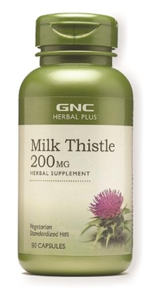 Picture of GNC Herbal Plus Milk Thistle 200 mg/ Бял трън 200 мг- Естествена защита на черния дроб