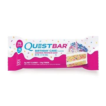 Снимка на Quest Bar  Protein Bar – Birthday cake / Куест протеинов бар - Доставя необходимото количество протеин