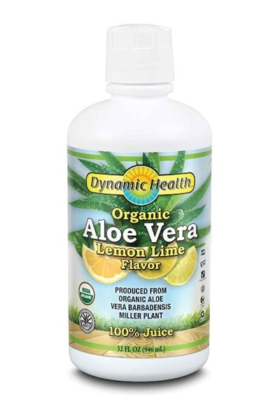 Picture of Dynamic Health Organic  Aloe Vera 100% Juice - Lemon/ Lime/ Алое Вера Органик 100 % Сок- Лимон & Лайм - За здрава храносмилателна система