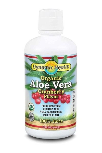 Picture of Dynamic Health Organic  Aloe Vera 100% Juice – Cranberry Flavor/ Алое Вера Органик 100 % Сок- Червена Боровинка - За здрава храносмилателна система
