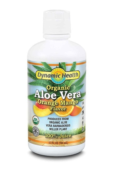 Picture of Dynamic Health ® Organic  Aloe Vera 100% Juice – Orange Mango/Алое Вера Органик 100 % Сок- Портокал & Манго- За здрава храносмилателна система