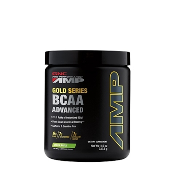 Снимка на GNC Pro Performance AMP Gold Series BCAA Advanced – Green  Apple / Аминокиселини PP AMP Голд Сирис  ВCAA - Аминокиселинен комплекс от ВСАA