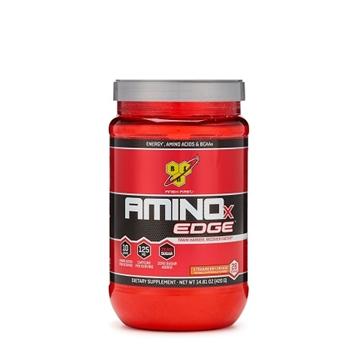 Снимка на BSN Aminox Edge - Strawberry Orange / Биесен Амино X™ Едж - Аминокиселинен комплекс спомагащ бързото възстановяване, обогатена с кофеин