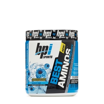 Снимка на BPI Sports Best Aminos with Energy - Blue Icy Raz / БиПиАй Бест Аминос - Аминокиселини обогатени с електролити и кофеин