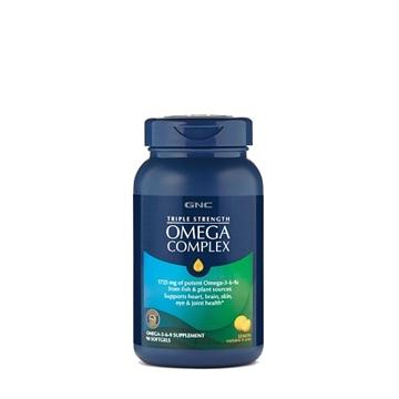 Снимка на GNC Triple Strength Omega Complex / Омега комплекс- Тройна сила от полезните омега мастни киселини в капсула с лимонен аромат