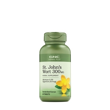Снимка на GNC Herbal Plus  St. John`s Wort 300 mg / Жълт кантарион 300 мг - Натурален антидепресант