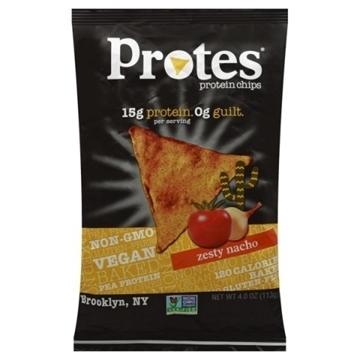 Снимка на Protes Protein Chips – Zesty Nacho / Протеинов чипс - Хрупкав и вкусен растителен протеинов чипс