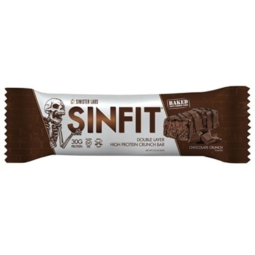 Снимка на Sinister Labs SinFit Protein Bar - Chocolate Crunch/ Протеинов бар Синфит- Високопротеинов бар