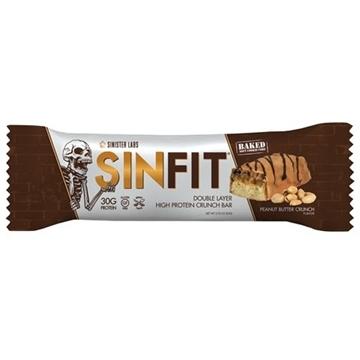 Снимка на Sinister Labs SinFit Protein Bar - Peanut Butter Crunch/ Протеинов бар Синфит- Високопротеинов бар