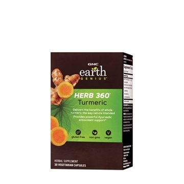 Снимка на GNC Earth Genius Herb 360 Turmeric/ HERB 360 ™ Турмерик( Куркума)- Здравословно функциониране на ставите