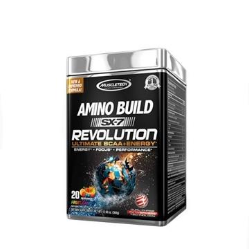 Снимка на Muscletech  Amino Build SX-7 Revolution-Fruit Candy/ Масълтек Амино Билд SX-7 Революшън - Революционна формула ВСАА + кофеин,  безкомпромисна мощ и експлозивни тренировки