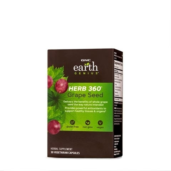 Picture of GNC Earth Genius Herb 360 Grape Seed / HERB 360 ™ Екстракт от гроздови семки- Антиоксиданта защита на организма