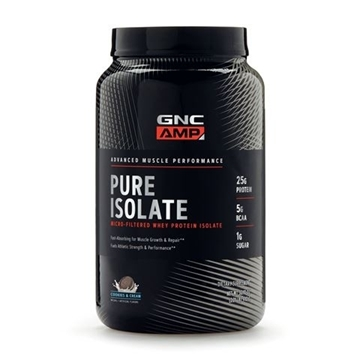 Снимка на GNC  AMP Pure Isolate – Cookies & Cream/ Пюр изолат