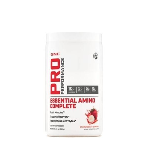 Picture of GNC Pro Performance Essential Amino Complete-  Strawberry Banana/ Аминокиселини Есеншъл Комплийт - Възстановяване на мускулите и поддържане на водния баланс в организма