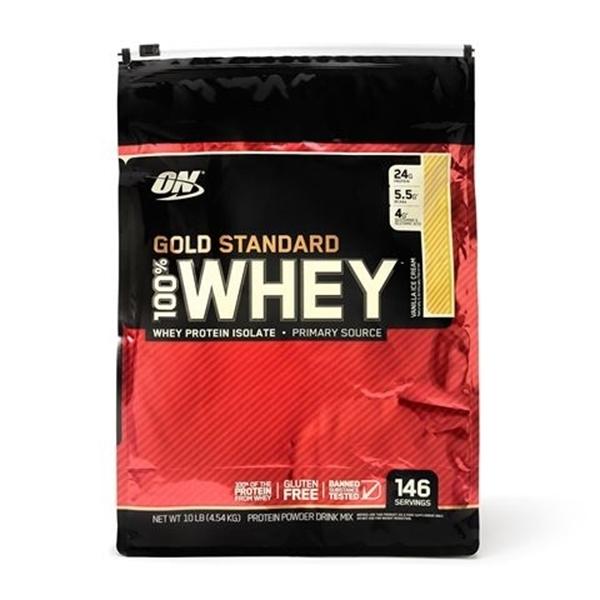 Picture of Optimum Nutrition Gold Standard  100% Whey – Vanilla Ice Cream/ Оптимум Нутришън Голд Стандарт 100% Суроватъчен Протеин - Златен стандарт в качеството на протеините