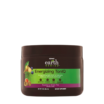 Снимка на GNC Earth Genius Energizing Toniq - Raspberry Green Tea/ Енерджайзинг Тон Айкю- Тонус и концентрация  Прах-