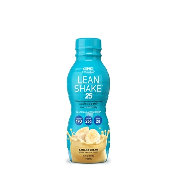 Снимка на GNC Total Lean®  Lean Shake™ 25 – Banana Cream/ Тотал Лийн Шейк- Готов за употреба протеинов шейк