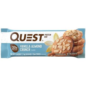 Снимка на Quest Protein Bar – Vanilla Almond Crunch/ Протеинов бар Куест - Доставя необходимото количество протеин