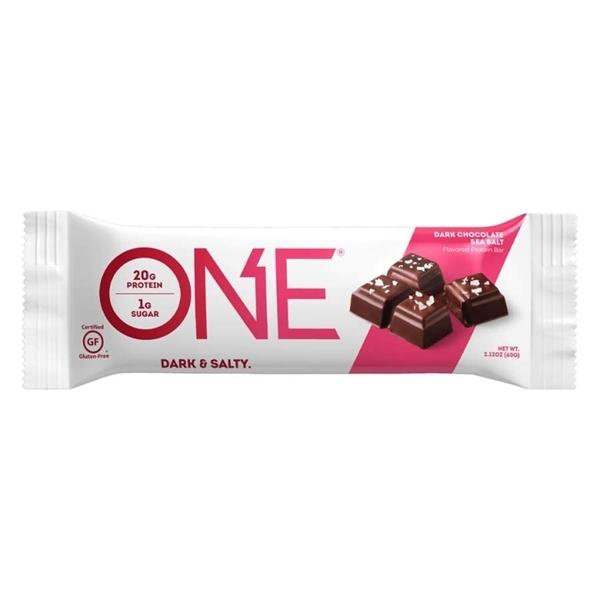 Picture of One ®- Dark Chocolate Sea Salt  / Протеинов бар - Удобен начин да си набавите протеин